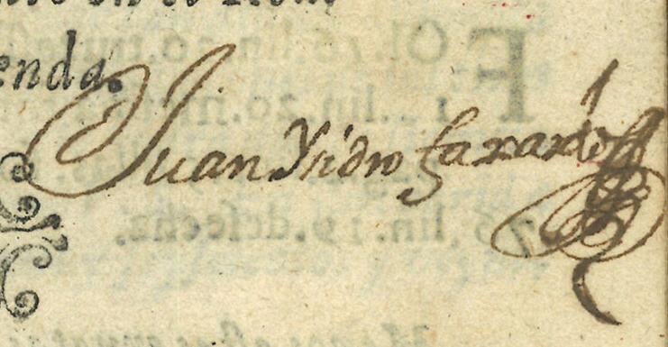 Firma manuscrita: Juan Isidro Faxardo